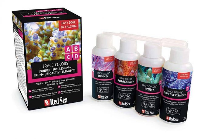 Red Sea Trace Colors ABCD 4-Pack Coral Coloration ARE22040